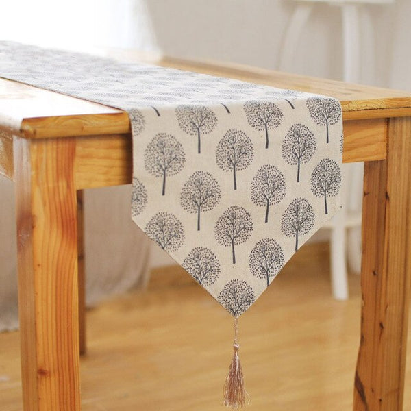 Table Runner, Tree Pattern Elegant Table Decorative Runner for Christmas Wedding