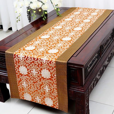 Chinese Silk Satin Table Runner Dining Table Mat Cover Cloth  Damask Coffee Table