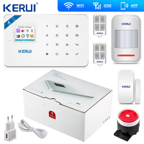 W18 Wireless Wifi Home Alarm GSM IOS Android APP Control LCD GSM SMS Burglar Alarm