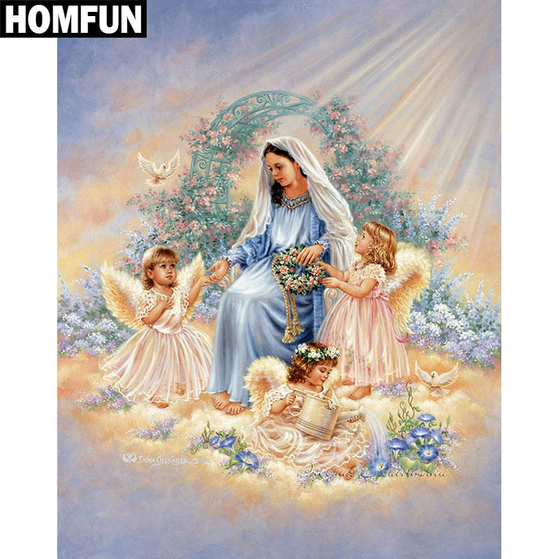 "Full Square/Round Drill 5D DIY Diamond Painting ""Religious Jesus"" Embroidery Home Decor Gift A06362"