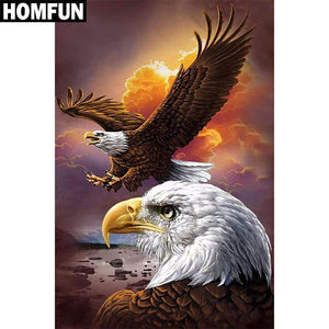 "Full Square/Round Drill DIY Diamond Painting ""American eagle"" Embroidery Cross Stitch 5D Home Decor Gift A03805"