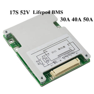 17S 62V 62.9V Smart BMS with Bluetooth APP Communication Function for 62V 35Ah 40Ah Lifepo4 Battery