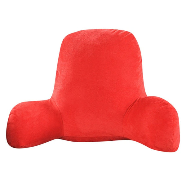 Sofa Cushion Back Pillow Bed Plush Big Backrest Reading Rest Pillow Lumbar Support Chair Cushion