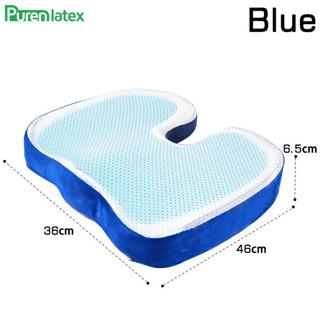 PurenLatex 46*36 U Shape Silicone Gel Cushion Memory Foam Pillow Coccyx Protect Slow