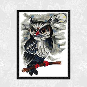 Owl Counted Embroidery Printed Canvas Stitches Handmade Accessories Needlework 14ct 11ct Aida Cross Stitch kits
