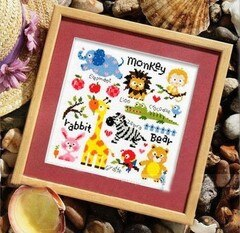 Different lovely smaller cross stitch kits Ladybug cross stitch kit plant animal design 14ct   canvas embroidery DIY needlework