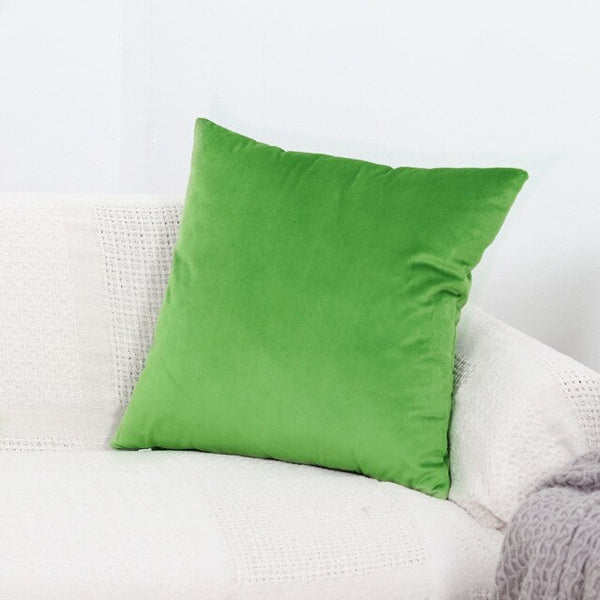 Nordic Luxury Blue Velvet Cushion Green Yellow Pink Gray White Black Home Decorative