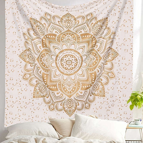 Mandala Wall Hanging Tapestry High Quality Boho Yoga Matt 200x140CM Polyester Indian Mandala Tapestry For Home Decor