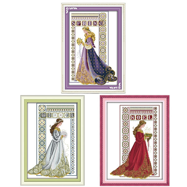 Bouquets of brides series count and printing cross stitch kit 14CT11CT embroidery kit sewing kit home decoration DIY crafts gift