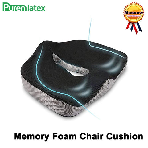 Coccyx Memory Foam Chair Orthopedic Pillow Office Seat Pad Hemorrhoid Treat Car Seat