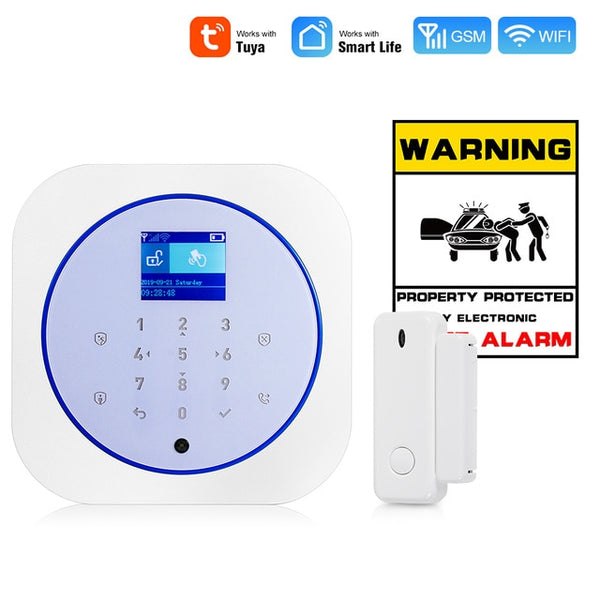 Towode Smart Home Security Alarm System WiFi GSM Wireless  433MHz Tuya APP Android IOS