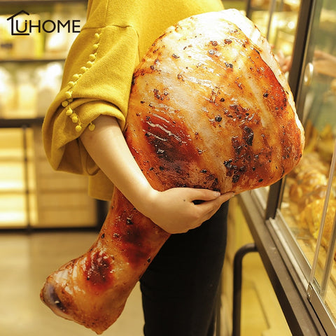 3D Simulation Food Shape Plush Pillow Creative Chicken Sausage Plush Toys Stuffed Sofa Cushion