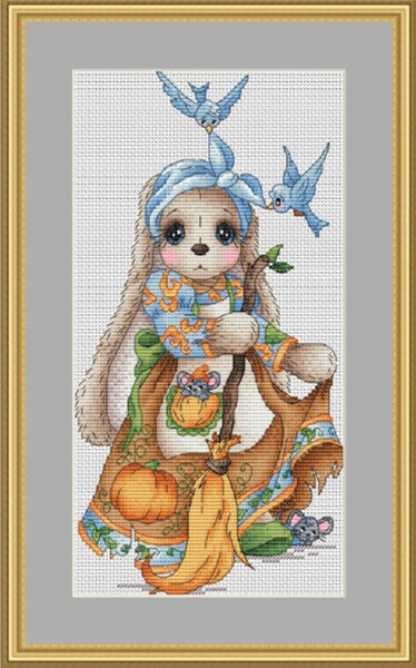 cross stitch kit Animal cotton thread  Love lock canvas stitching embroidery Coffee drinking animal series sweater animal