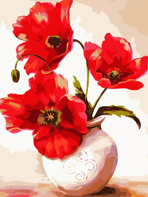 "Full Square/Round Drill 5D DIY Diamond Painting ""poppy flower scenery"" Embroidery Cross Stitch 5D Home Decor Gift"