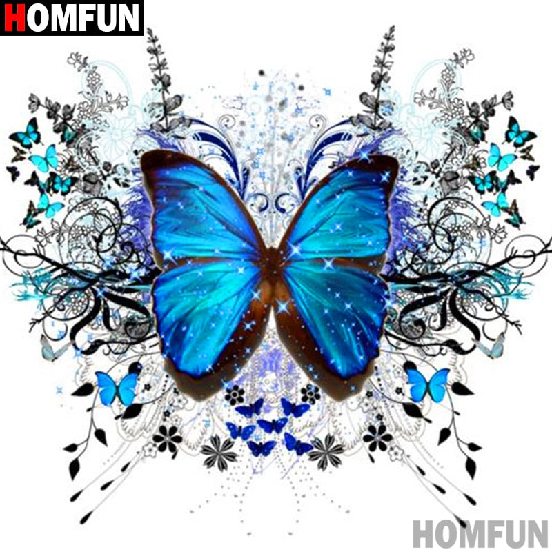 "Full Square/Round Drill DIY Diamond Painting ""Animal butterfly"" 3D Embroidery Cross Stitch Gift A10626"