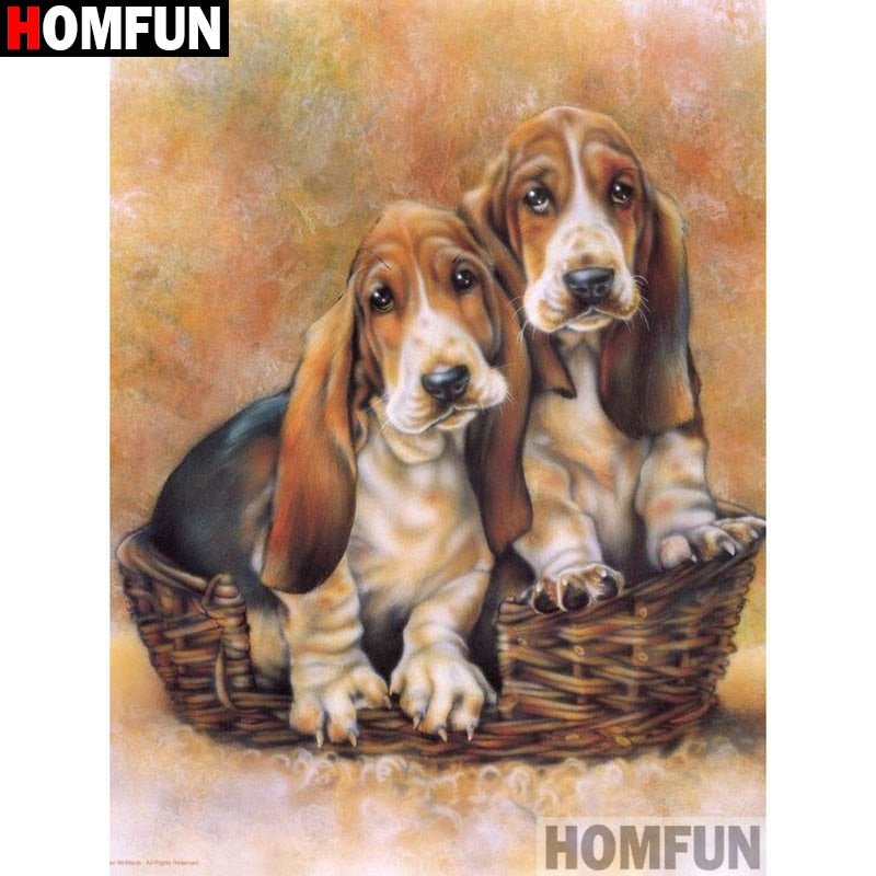 "Full Square/Round Drill 5D DIY Diamond Painting ""Animal dog"" Embroidery Cross Stitch A13046"