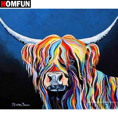 "Full Square/Round Drill 5D DIY Diamond Painting ""Cartoon colored cow"" Embroidery Cross Stitch 3D Home Decor Gift A13212"