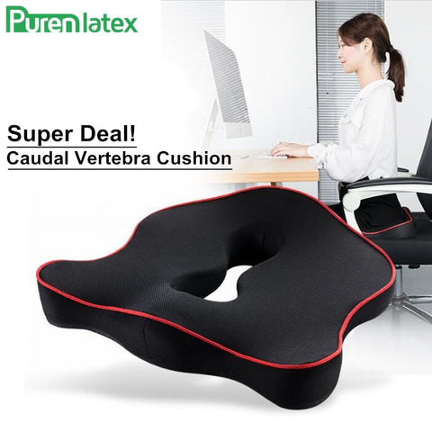 PurenLatex Memory Foam Caudal Vertebra Protect Orthopedic Chair Pillow Coccyx Cushion Pad