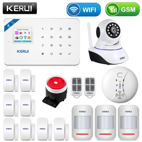 W18 1.7 Inch TFT Screen WIFI GSM Home Burglar Security Alarm System Motion Detector APP