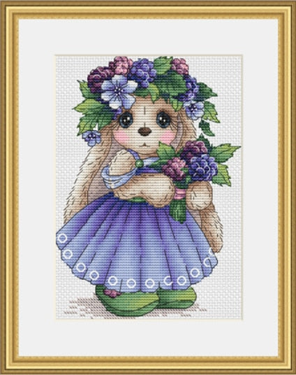 TOP rabbit cross stitch kit Animal cotton thread  14ct canvas stitching embroidery DIY