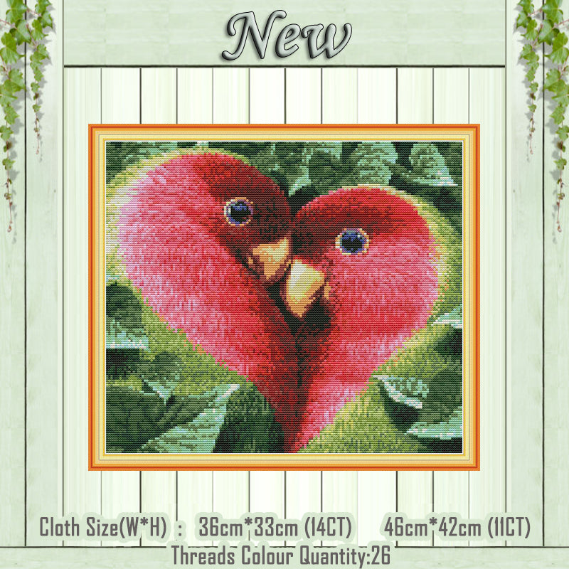 Love bird animal home decor painting counted printed on canvas DMC 14CT 11CT Cross Stitch