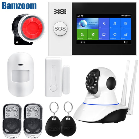 Wireless Wire Home WIFI GSM Security Alarm System Kit APP Control With Auto Dial