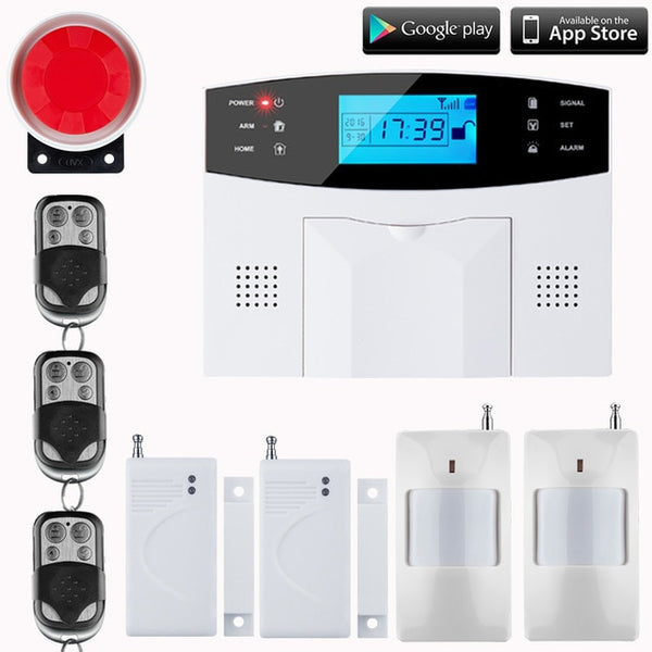 LCD Keyboard RU/SP/EG/FR/IT Voice Wireless SMS Home GSM Alarm system House intelligent