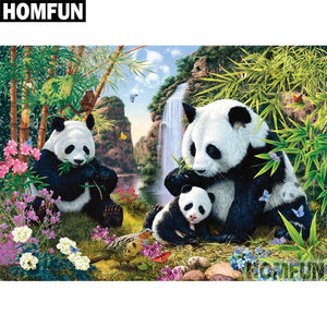 "Full Square/Round Drill 5D DIY Diamond Painting ""Animal panda"" Embroidery Cross Stitch A06486"