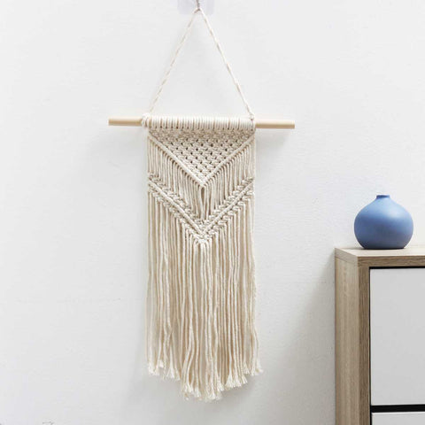 DIY Handmade Wall Hanging Tapestry Bohemian Woven Spiral Macrame Tassel Handmade Cotton Knitting Tapestry for Home Decor Textile