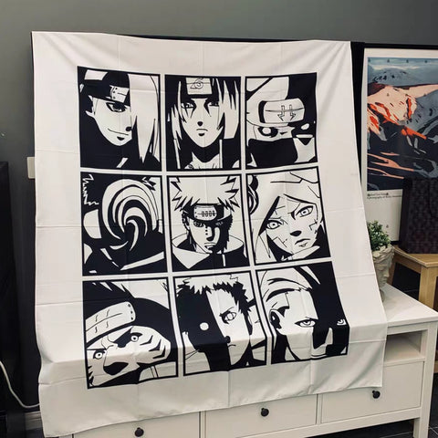 Naruto Tapestry Japanese Wall Hanging Decor Super Soft Blanket Throw Towel Hippie Home Decor Wall Hanging Sleeping Pad Tapestrie