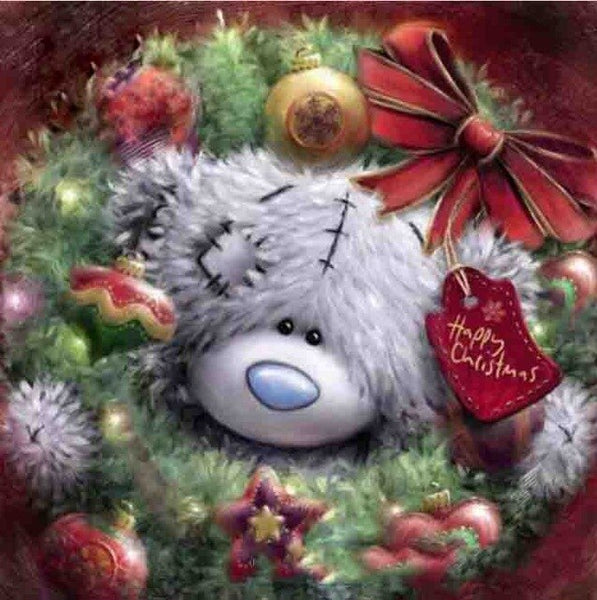 "Diamond painting ""Cartoon bear christmas"" Full Square/Round Drill Wall Decor Inlaid Resin Embroidery Craft"