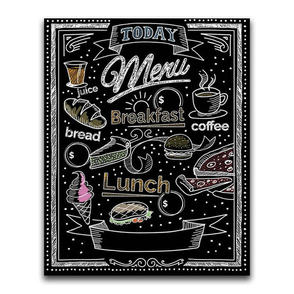 "Full Square/Round 5D DIY Diamond Embroidery ""Black board word"" Diamond Painting Cross Stitch Rhinestone"