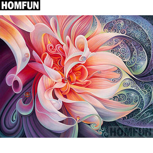 "Full Square/Round Drill 5D DIY Diamond Painting ""Pink flower"" Embroidery Cross Stitch 5D A02156"