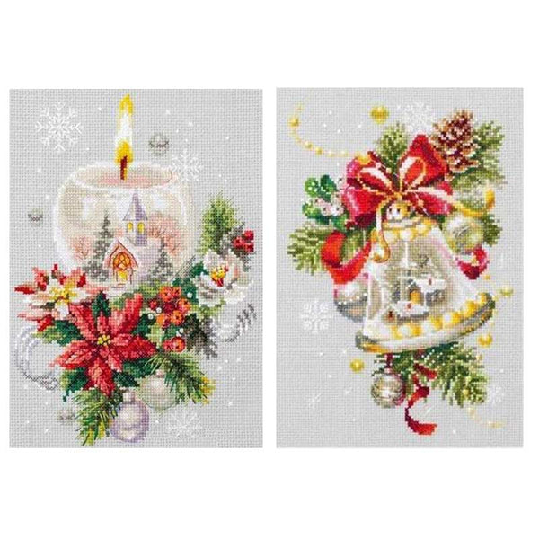 Christmas candle bells patterns Counted Cross Stitch  11CT 14CT 18CT DIY Chinese Cross Stitch Kits Embroidery Needlework Sets