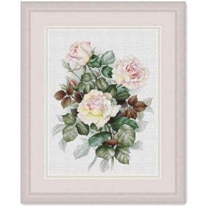 Elegant pink rose cross stitch package flowers plant 18ct 14ct 11ct cloth cotton thread embroidery DIY handmade needlework