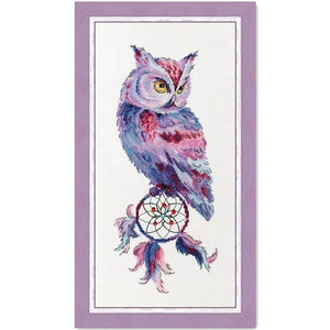 Dream catcher and owl cross stitch package animal 18ct 14ct  cloth cotton thread embroidery DIY handmade needlework