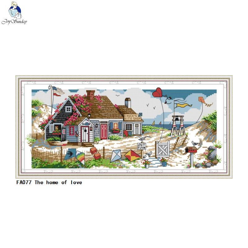 Embroidery The home of love Patterns Printed on Canvas 14CT 11CT Cross Stitch kits Needlework Sets