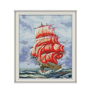 Everything is going smoothly 14 cross stitch kit aida 14ct 11ct count print canvas cross stitches   needlework embroidery DIY