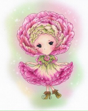 Angel Curly girl with basket cross stitch kit Animal cotton thread  14ct  canvas stitching embroidery DIY
