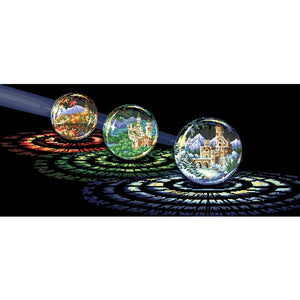 Beautiful crystal ball cross stitch package city 18ct  14ct 11ct black cloth cotton thread embroidery DIY handmade needlework