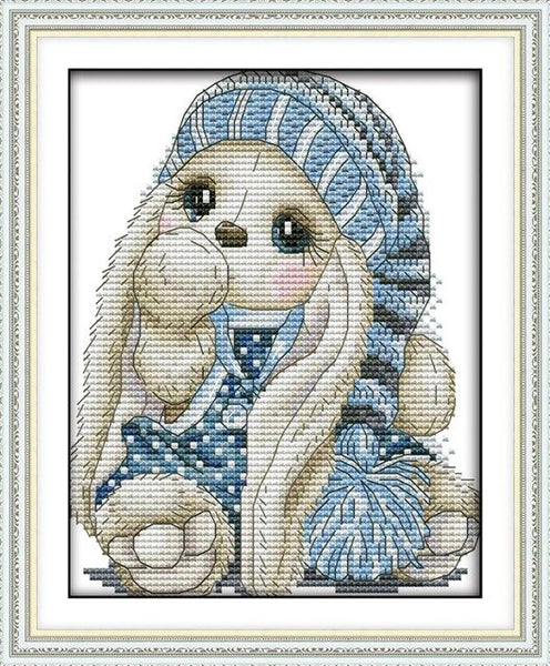 Cute Rabbit Series Counted Cross Stitch kits Sale, Embroidery Needlework Set, Home Decoration Send Accessory Tools