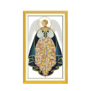Angel (3) cross stitch kit DIY hand embroidery set craft handmade needlework  cross-stitching DMC color Dreamfounder