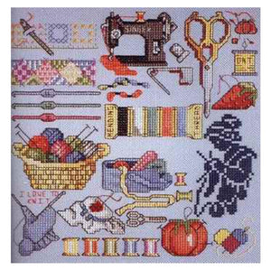 FREE delivery Top Quality lovely counted cross stitch kit I love to sew sewing treasure tools needle work