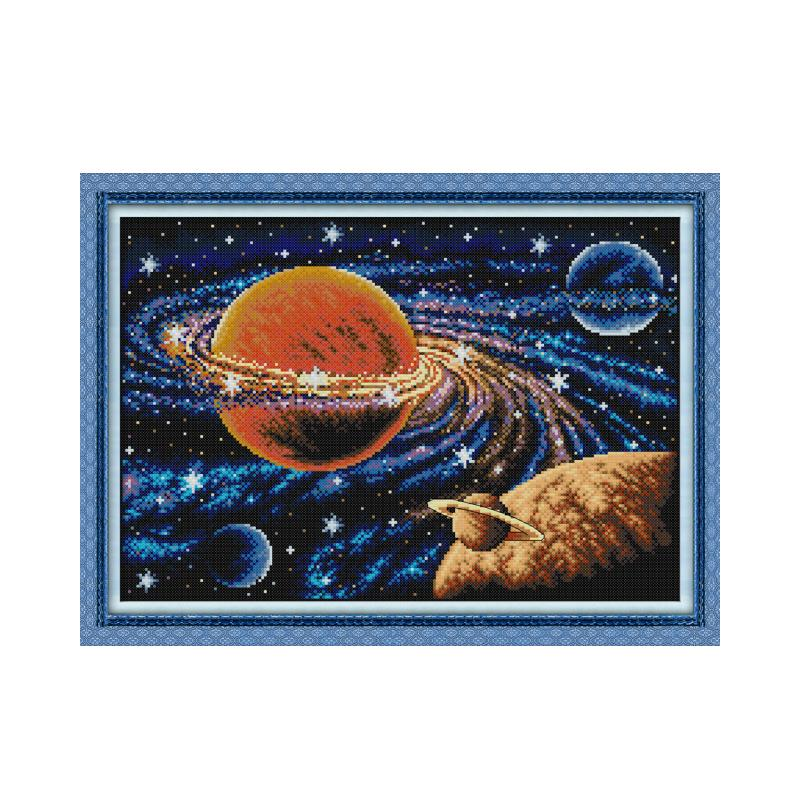 Milky way cross stitch kit aida 14ct 11ct count print canvas cross stitches stitching kits needlework embroidery DIY handmade