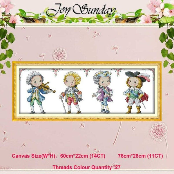 Baby World festival boy girls patterns counted 11CT 14CT Cross Stitch Sets DIY Cross-stitch Kit Embroidery Needlework Home Decor