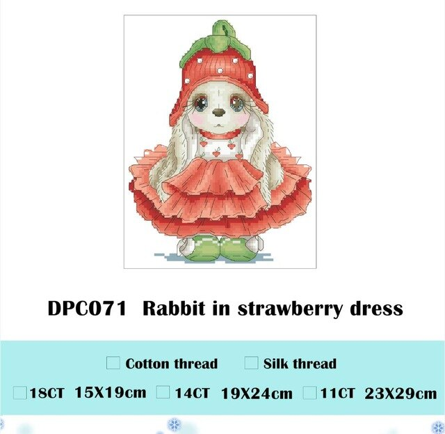 Beautiful women cross stitch package cartoon animal 18ct 14ct 11ct cloth cotton thread embroidery DIY handmade needlework