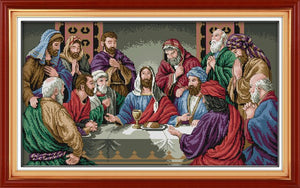 The Last Supper Cross Stitch kits Set Needlework Handmade Embroidery Handicrafts DMC Aida Printed Home Decoration Accessories
