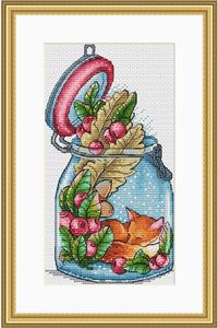 G  Counted Cross Stitch Kit Fan blowing a fan Handmade Needlework For Embroidery 14ct Cross Stitch The Little World of the Fox