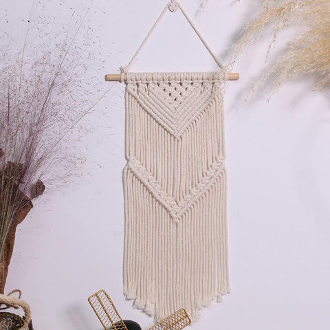 Macrame Wall Hanging Small Woven Tapestry Boho Wall Art Decor  Room Home Decor, Apartment, Farmhouse ,Nursery, Party Decorations