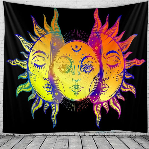 The sun god tapestry Indian Mandala Hippie Macrame Tapestry Wall Hanging Boho decor Psychedelic Witchcraft Tapestry